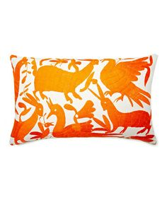 Take a look at this Orange Animal Kingdom Karma Rectangular Down Throw Pillow by Frog Hill Designs on #zulily today!