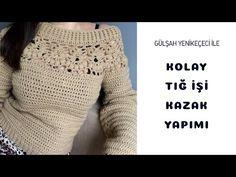 Tığ İşi Kazak - YouTube Diy Arts And Crafts, Knit Or Crochet, Crochet Patterns, Pullover, Knitting, Youtube, Sweaters, Jackets, Dresses