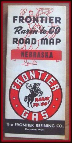 Frontier Gas Road Map Nebraska