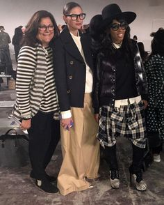 Fern Mallis, Jenna Lyons and June Ambrose