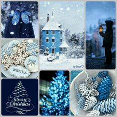 Winter blues. #moodboard #mosaic #collage #byJeetje♡