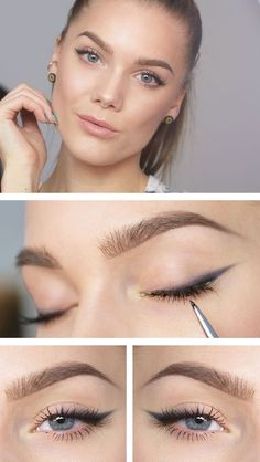 Eyeliner for beginners can be a challenge, which is why I have 25 brilliant eyes. - Eyeliner for beginners can be a challenge, which is why I have 25 brilliant eyes … – makeup sec - Eyeliner Make-up, Makeup Eyeshadow, Eyeliner Ideas, Shimmer Eyeshadow, Eyeshadow Palette, Copper Eyeshadow, Eyeliner Brands, Simple Eyeshadow, Eyeliner Hacks
