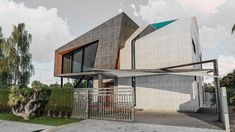 Contemporary House Design | By Farooq & Associates -1 Kanal House Exterior, House Design, Contemporary, Architecture, Arquitetura, Outdoor Rooms, Architecture Design, Architecture Design, House Plans