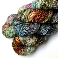 Vera Fingering Single Ply Yarn Back to Italy 500 by JulieSpins, $26.00