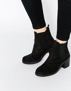 Ботинки челси на каблуке ASOS RIBBON