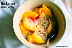 Grain Crazy: Buckwheat Hot Cereal. Great way to warm up in the morning and feel great.