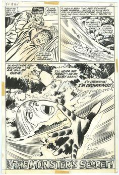 John Buscema & Joe Sinnott - Fantastic Four #124, page 20 - Susan Storm / Invisible Woman Comic Art