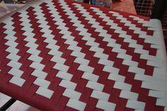 Herringbone in cranberry and grey Herringbone, Weaving, Patterns, Rugs, Chair, Grey, Home Decor, Block Prints, Farmhouse Rugs