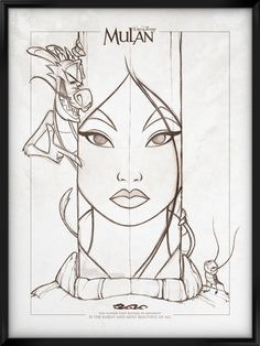 Walt Disney's Signature Collection - MULAN by davidkawena on DeviantArt - Trend Disney Stuff 2019 Disney Sketches, Disney Drawings, Art Sketches, Art Drawings, Drawing Disney, Disney Character Sketches, Cartoon Character Tattoos, Arte Disney, Disney Art