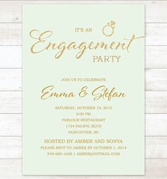 mint gold engagement party invitation mint by pinkdahliaprintable