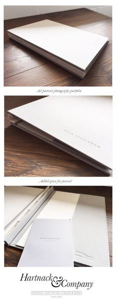 Hidden screw post bespoke photography portfolio accompanied by a customised smaller booklet.