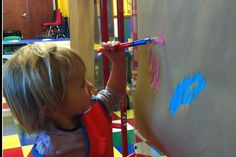The paint in our art room is washable!  No need to worry about paint on your child's clothing!  coloradosprings.monkeybizness.com