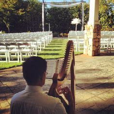 Rick Tan testing the sound on the harp before Rev. Jennifer Tan officiates a wedding at the Granite Bay Golf Club. Places To Get Married, Got Married, Getting Married, Tan Wedding, Granite Bay, Wedding Events, Weddings, Northern California, Golf Clubs