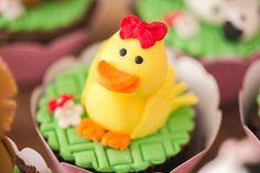 Chicken Cupcake Topper from a Girly Little Farm Birthday Party via Kara's Party Ideas | KarasPartyIdeas.com (37)