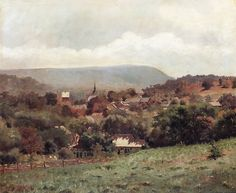 Delaware Water Gap Village, ca 1886, Louis Michel Eilshemius