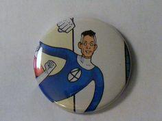 "Comic Book 1.5"" Button// Fantastic Four// Mister Fantastic, $1.00"