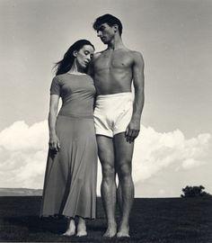 Martha Graham and Erick Hawkins, Bennington College, 1938. Photography by Barbara Morgan.