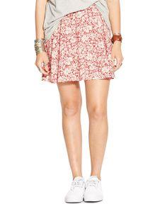 Denim & Supply Ralph Lauren Floral-Print A-Line Mini Skirt