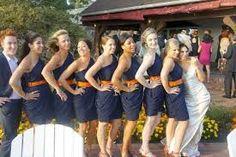dark blue and orange wedding - Google Search