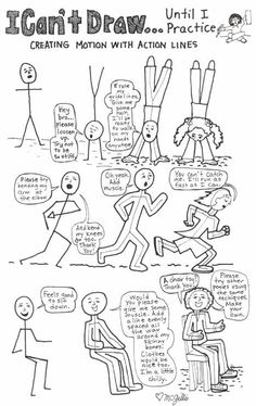 stick people with action