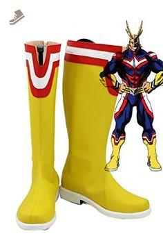 My Hero Academia All Might Cosplay Shoes Boots Custom Made - Telacos sneakers for women (*Amazon Partner-Link)