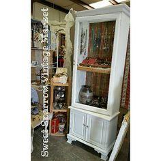 Repurposed gun cabinet made into a jewlery cabinet