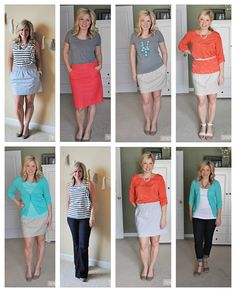 30 pieces  30 outfits challenge. Great way to expand your wardrobe - Fashion for business women