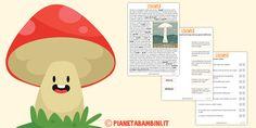 Schede didattiche sui funghi per la scuola primaria