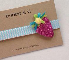 Glitter Hair Clip - Strawberry Hair Clip - Glitter Strawberry Hair Clip - Fruit Hair Clip - Strawberry Headband, Bubba and Vi on Etsy, $16.68 AUD