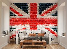 Ohpopsi Union Jack Street Art On Brick Wall Mural Ohpopsi Http://www. Part 34
