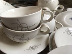 Eva Zeisel Atomic Fantasy vintage china set for sale - located in Los Angeles  https://www.etsy.com/listing/485885833/eva-zeisel-atomic-fantasy-hallcraft