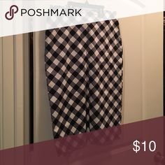 Pencil Sexy skirt Black and white checkered pencil skirt New York & Company Skirts Pencil