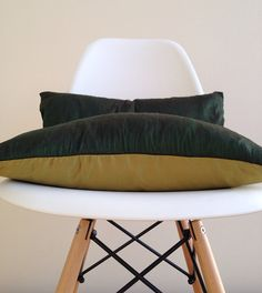 "2 Silk Lombard Pillow Covers, throw pillows, couch pillows, home decor, decorative pillow, 20"" x 12"" on Etsy, £36.00"