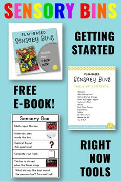 Ready to try out sensory bins? Here's a free ebook that shares tried and true tips to getting started with sensory bins in your classroom! From Positively Learning #sensoryplay #sensorybin