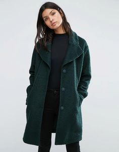 Y.A.S+Camen+Textured+Oversized+Coat