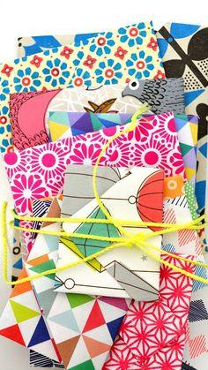 ingthings: DIY little origami envelopes #gifts #make #diy @Amanda Harris #kids #craft