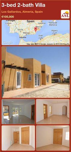 3-bed 2-bath Villa in Los Gallardos, Almeria, Spain ►€105,000 #PropertyForSaleInSpain