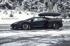 Roof Rack Lamborghini >> Lamborghini Aventador Project 700 In Snow Mountain Foto Made By