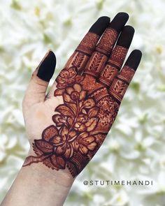 Kashee's Mehndi Designs, Floral Henna Designs, Henna Tattoo Designs Simple, Finger Henna Designs, Latest Bridal Mehndi Designs, Full Hand Mehndi Designs, Mehndi Designs For Girls, Mehndi Designs For Beginners, Mehndi Design Photos