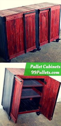 Pallet Cabinets - 99 Pallets   Your Free source of Pallet Furniture