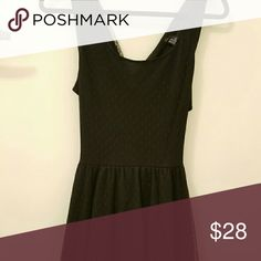 Lace/Polka Dot Circle Dress Very cute and flattering! (Only used a handful of times) Criss cross back. Polka Dot Lace Overlay. Can fit a Small or Medium Dresses Midi
