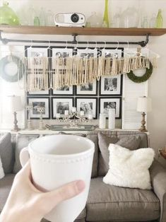 DIY Pottery Barn – Inspired Beaded Chandelier – Living with Lady Blown Glass Chandelier, Wood Bead Chandelier, Chandeliers, Home Tv Stand, Boho Lighting, Pallet Tv Stands, Southern Living Homes, Pottery Barn Inspired, Painted Furniture