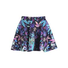"""Colorful """"Maple Leaves"""" Skirt ($33) ❤ liked on Polyvore featuring skirts, mini skirts, bottoms, faldas, saia, blue skirt, blue mini skirt, leaf skirt, multi color skirt and colorful skirts"""