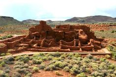 Wupatki N.M., Wupatki Pueblo, extant ca 1200AD.  Have visited the park several times over the years.