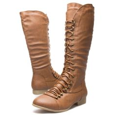 These would be really nice for elf boots... they remind me alot of Tauriel's. >>> Military Combat Round Toe Lace Up Riding Motorcycle Knee High Flat Low Heel Boot | eBay