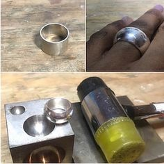 Metal Jewelry Making, Jewelry Tools, Jewelry Making Tutorials, Jewelry Design, Metal Forming, Ring Tutorial, Silver Rings Handmade, Diy Rings, Metal Stamping