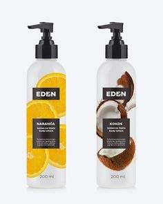EDEN on Packaging of the World - Creative Package Design Gallery Skincare Packaging, Cosmetic Packaging, Beauty Packaging, Bottle Packaging, Soap Packaging, Brand Packaging, Design Packaging, Bottle Labels, Label Design