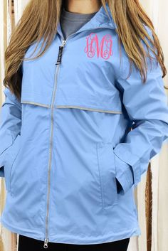 Charles River Women's New Englander Periwinkle Rain Jacket #5099 *Customizable!