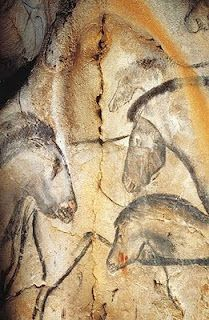 Chauvet-Pont-d'Arc Cave            Chauvet-Pont-d'Arc Cave ~  Ardeche Valley in France~  radiocarbon dating has set the age of most of the cave paintings at between 32,000 and 30,000 BP (before the present) in radiocarbon years
