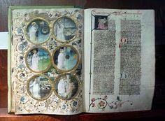 Bible de Jan de Selmberk, 1440. Exposée à la bibliothèque du couvent de Strahov, PragueScènes figurées (historiées)